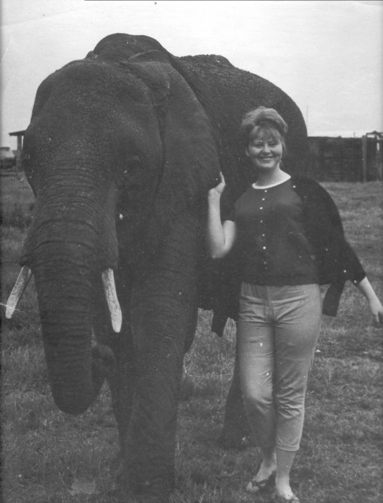 My Mom, in Africa where she was born and raised.